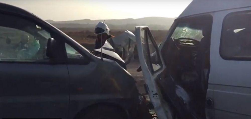 Утром на трассе Симферополь-Севастополь столкнулись три авто