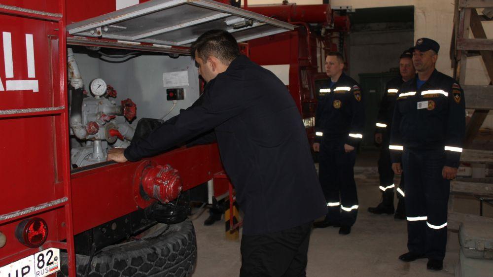 Руководство ГКУ РК «Пожарная охрана Республики Крым» проверило готовность пожарной части в Кировском районе к зимнему периоду