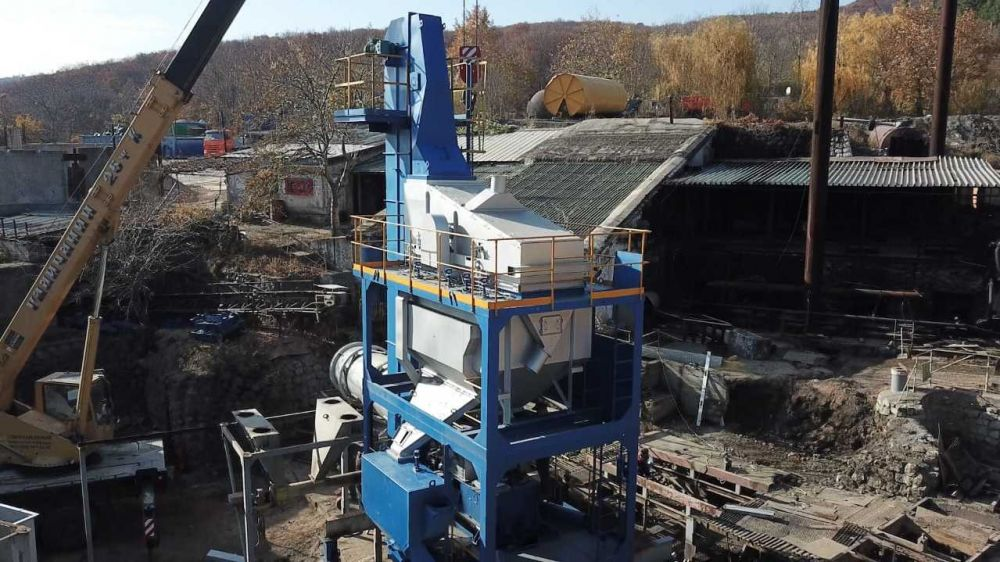 «Крымавтодор» завершает модернизацию асфальтобетонного завода в Алуште