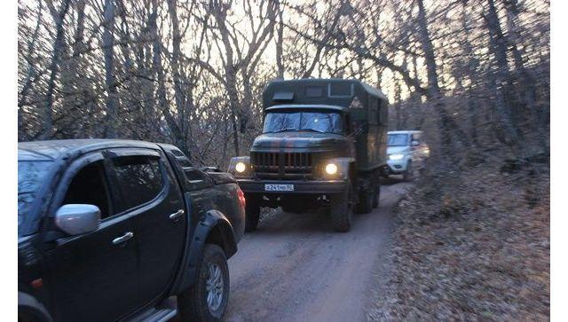 Крупный пожар в Крыму тушат с помощью армии