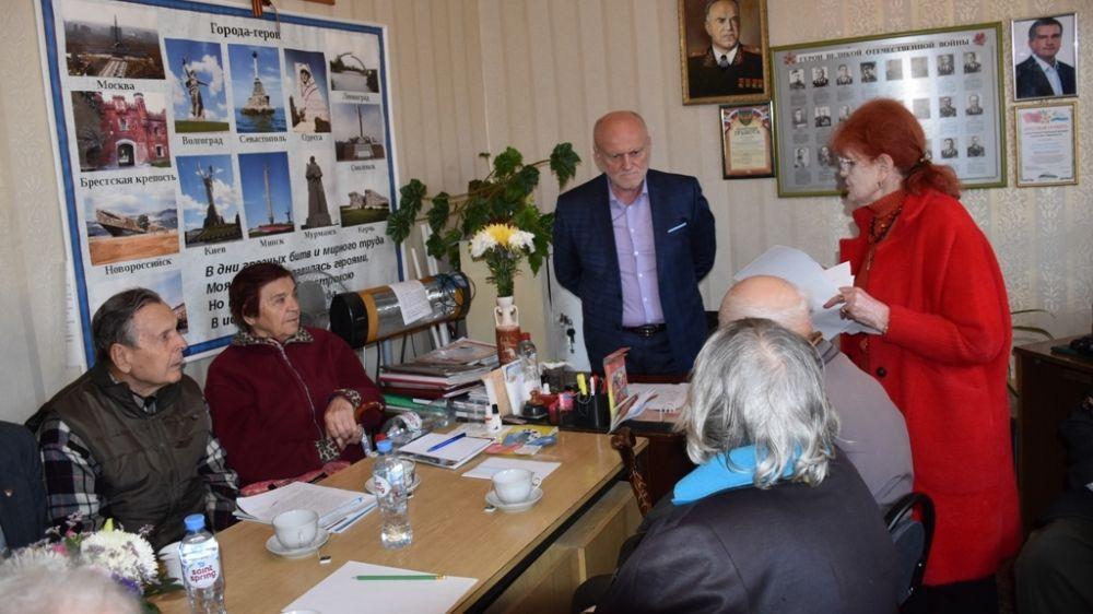 Иван Имгрунт встретился с представителями Ялтинской организации инвалидов войны и участников боевых действий