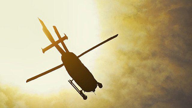 МЧС привлекло вертолет для тушения пожара в крымском лесу