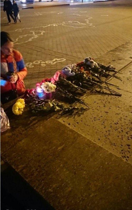 В центре Симферополя прошла акция в память об убитой 5-летней Даше