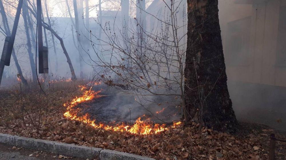 За прошедшие 3 дня сотрудники ГКУ РК «Пожарная охрана Республики Крым» ликвидировали 10 возгораний сухой растительности общей площадью более 4 Га