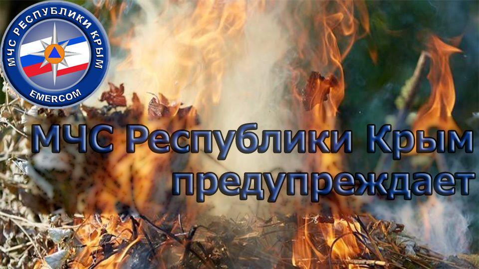 МЧС: Неконтролируемое сжигание сухой листвы и травы очень опасно!