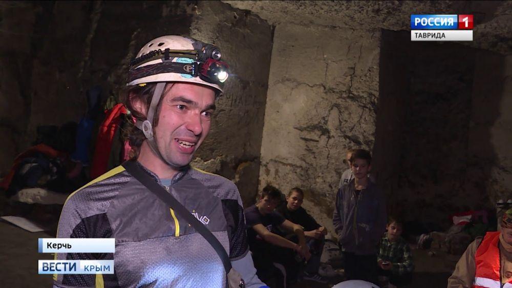 В Керченских каменоломнях проходит гонка на скорость и выживание