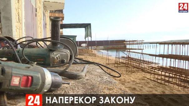В Приморском запретили стройку спортивного комплекса на пляже