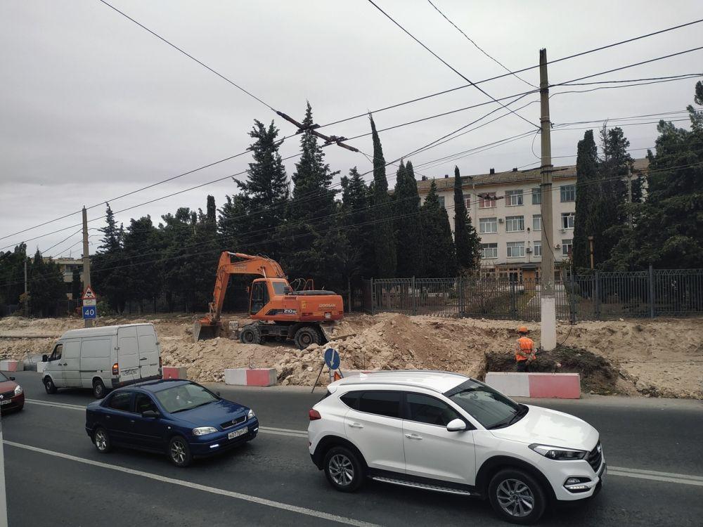В Севастополе перекрыта дорога в Стрелецкую бухту