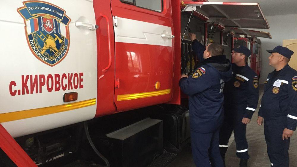 Сергей Шахов: Продолжается проверка боеготовности подразделений ГКУ РК «Пожарная охрана Республики Крым» к зиме