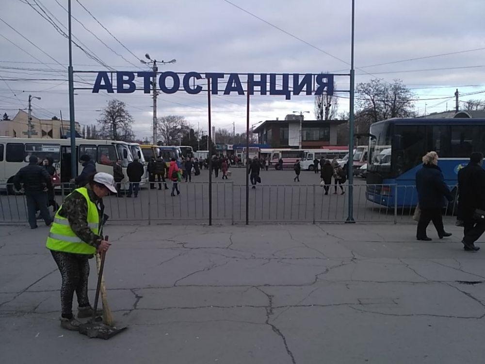 На одной из автостанций Симферополя ввели пропускной режим