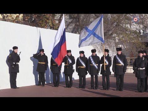 Курсанты военно-морского училища Санкт-Петербурга почтили память жертв Великого русского исхода