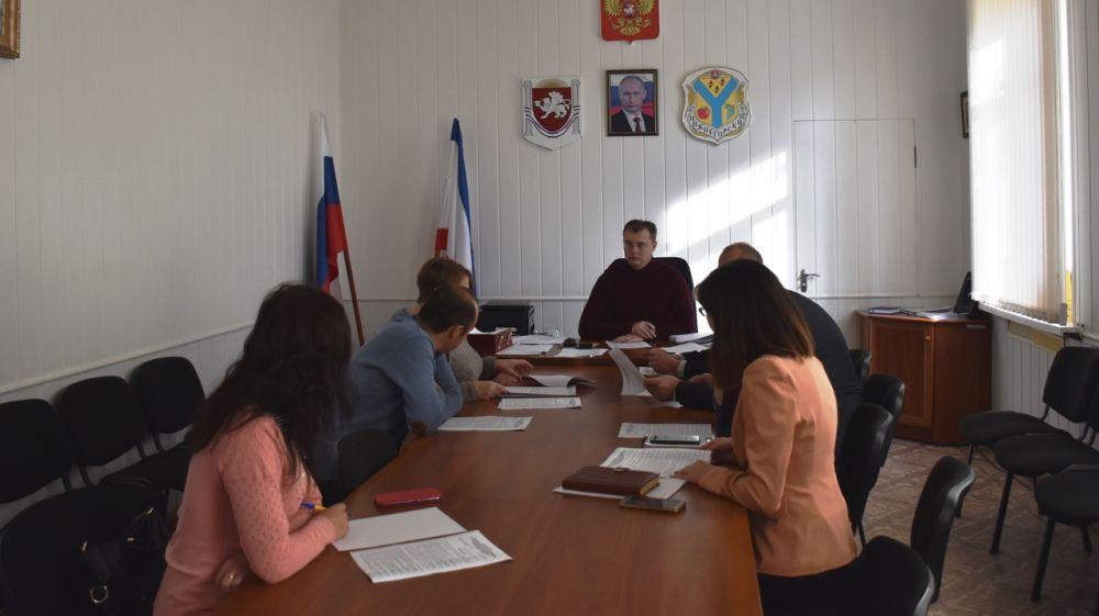 Состоялось заседание комиссии по управлению и распоряжению муниципальным имуществом муниципального образования Нижнегорский район