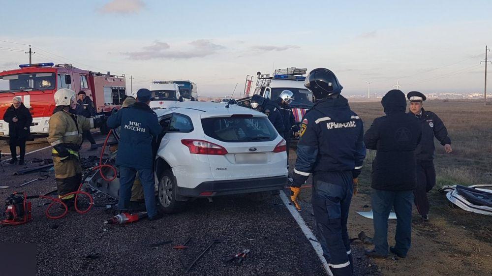 В автокатастрофе погибла глава Черноморского района Крыма