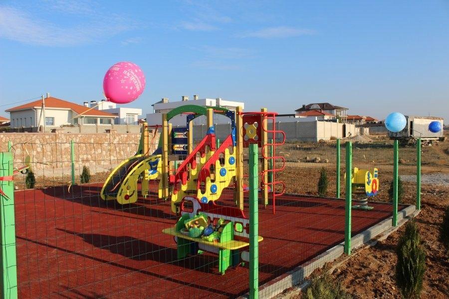 На Фиолентовском шоссе появилась новая детская площадка