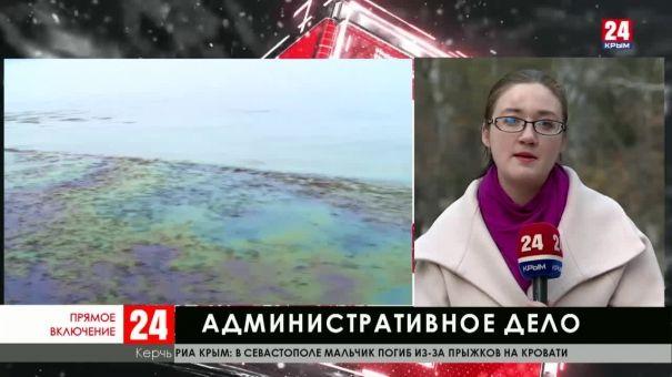 По факту загрязнения моря у берегов Керчи возбуждено административное дело