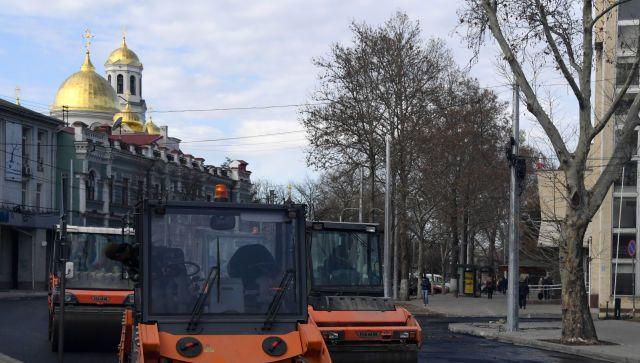 Аксенов раскритиковал ремонт улицы Александра Невского в Симферополе