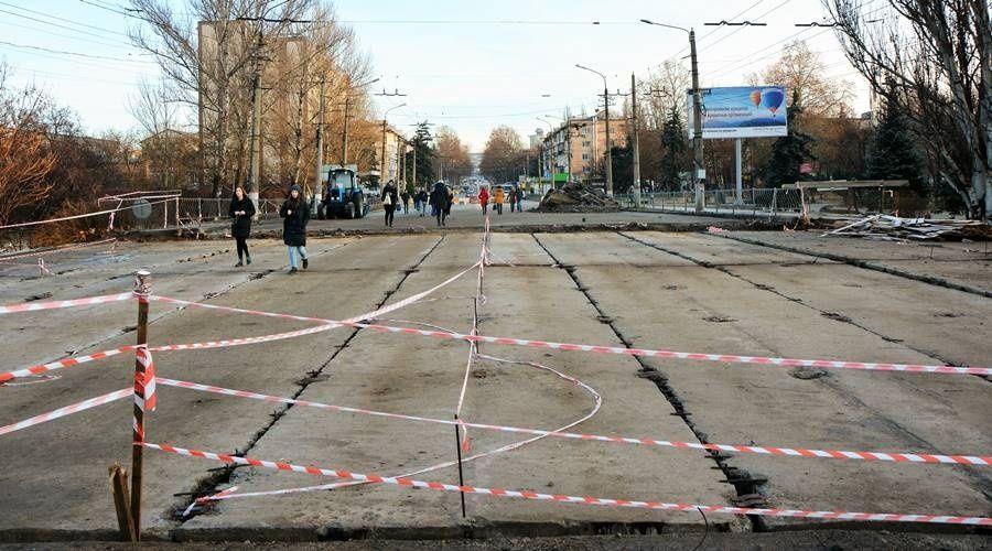 Реконструкция моста на улице Гагарина в Симферополе завершится только в марте