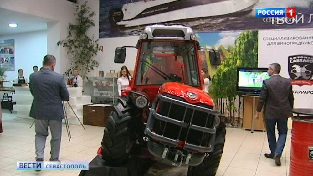 В Севастополе презентовали специальный трактор для виноградарей
