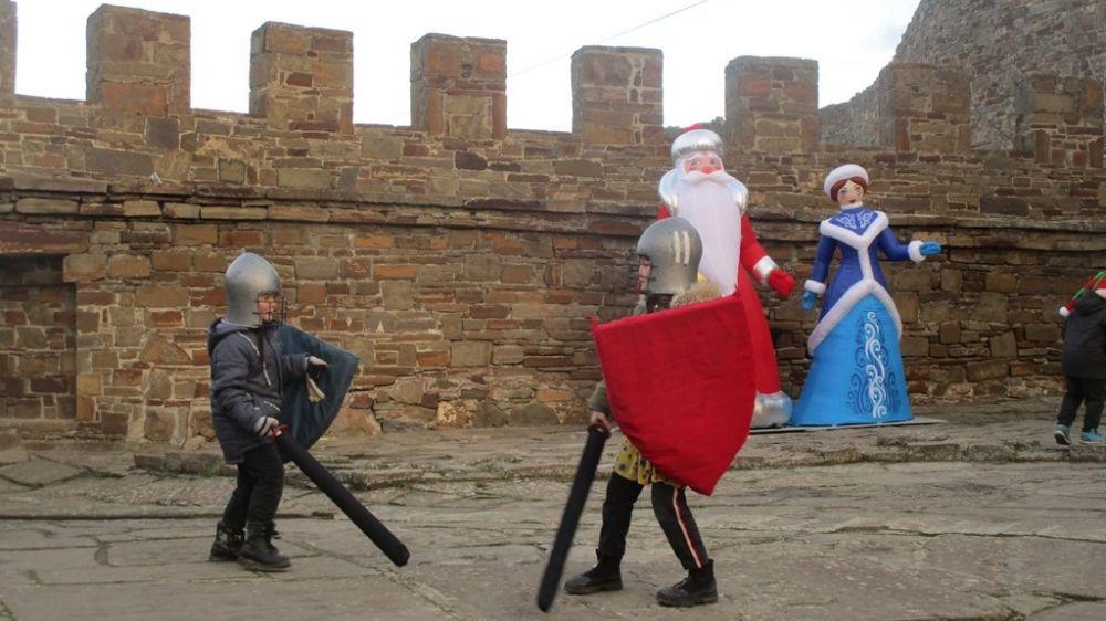 Новогодние мероприятия прошли в Музее-заповеднике «Судакская крепость»