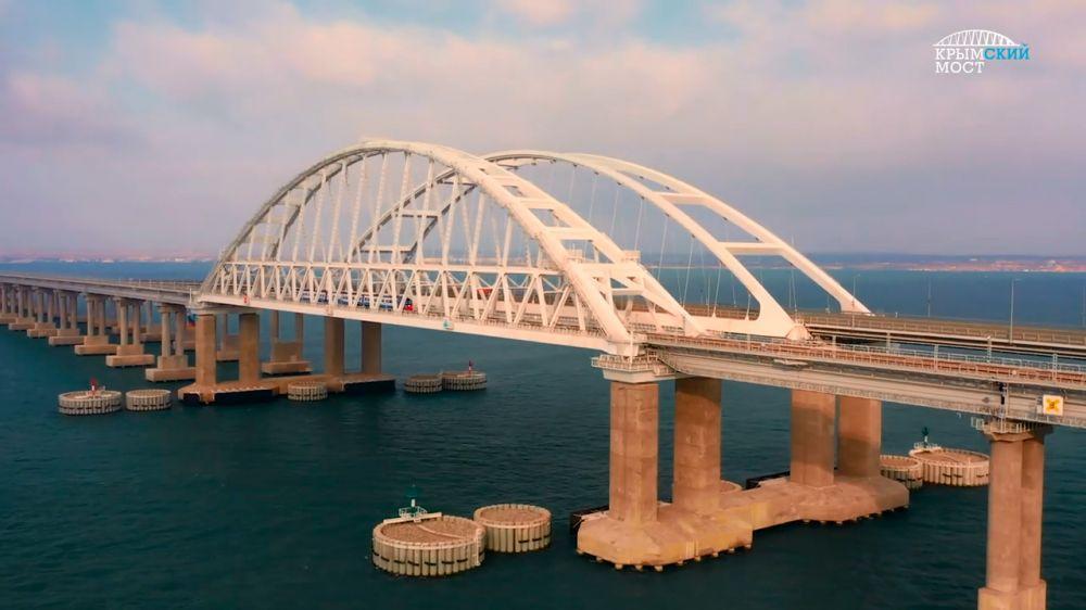 Крымский мост: начало железнодорожного движения