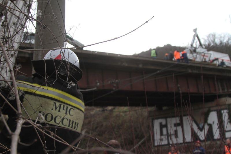 ЧП в Инкермане: ограждение моста рухнуло на железнодорожные пути