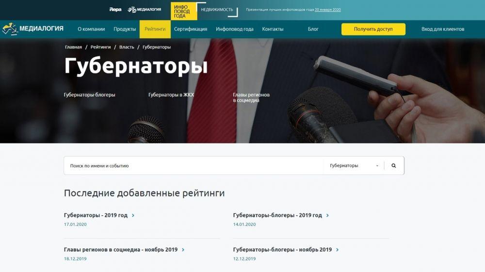 Сергей Аксёнов вошел в десятку самых цитируемых губернаторов-блогеров за 2019 год