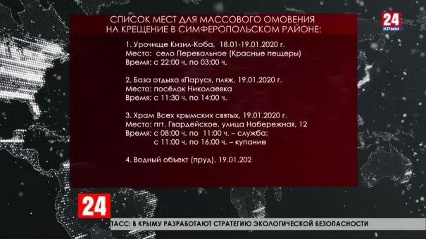 В Крыму оборудовано 46 мест для Крещенского омовения