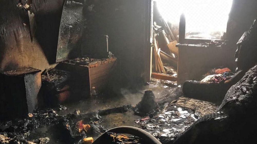 При пожаре в частном доме погиб житель Евпатории