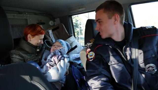 Симферопольские полицейские исполнили мечту тяжело больного ребенка