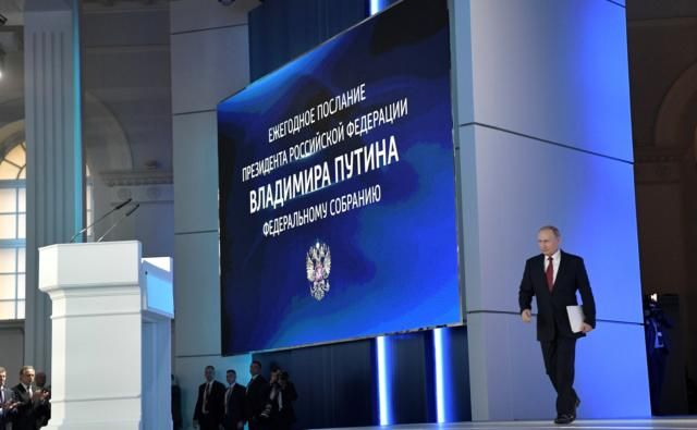 Рейтинг Путина возрос после послания Федеральному собранию