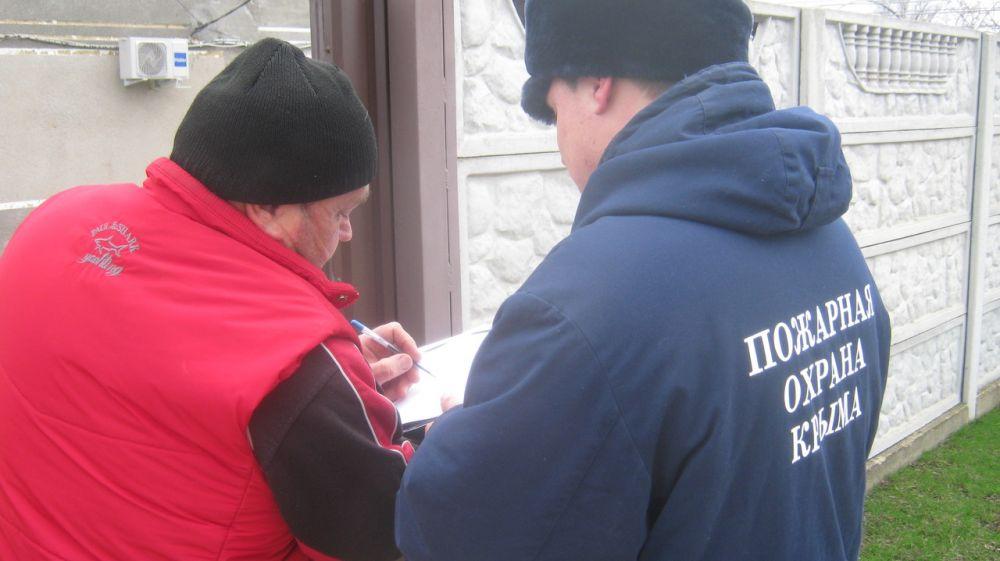 Сотрудники ГКУ РК «Пожарная охрана Республики Крым» продолжают проводить профилактические мероприятия в зонах своей ответственности