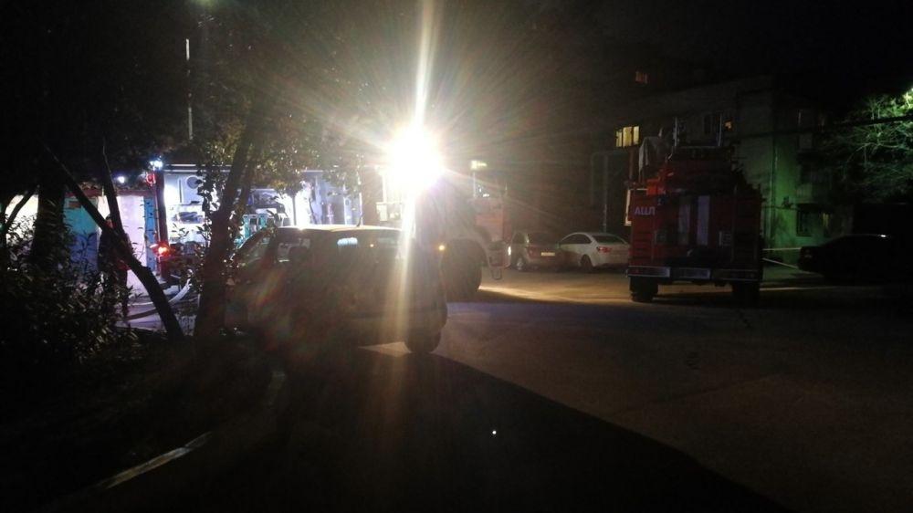 На пожаре, произошедшем в ГО Ялта, эвакуировано 12 человек