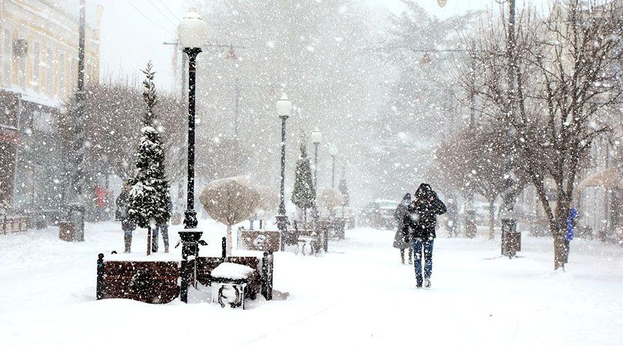 МЧС предупредило о метели и морозах в Крыму 23 и 24 января