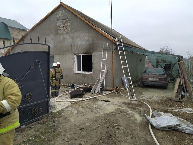 Пожар в Бахчисарайском районе — потолок «принял огонь на себя»