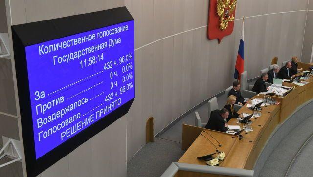 Госдума одобрила в первом чтении проект о поправке к Конституции
