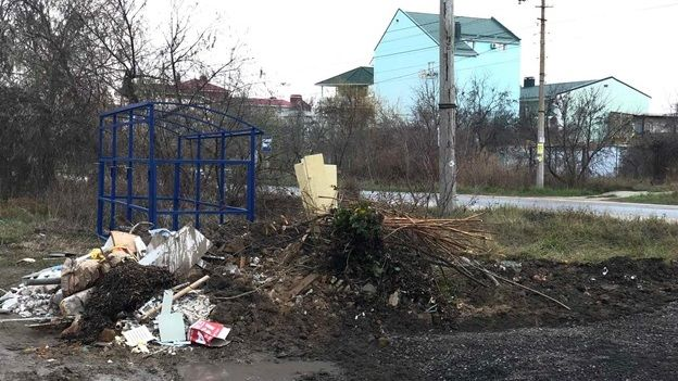 Госинспекторами Минприроды Крыма выявлены несанкционированные свалки на ул. Симферопольской в Евпатории