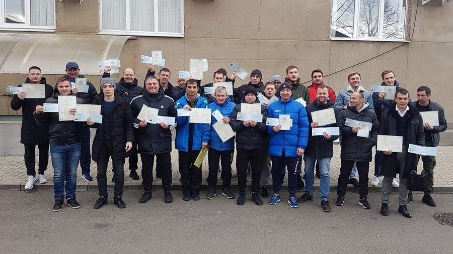 Крымские футбольные тренеры прошли обучение на категорию «С»