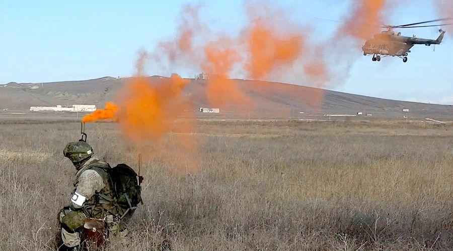 Воздушный десант ЧФ уничтожил «диверсантов» на учениях в Крыму