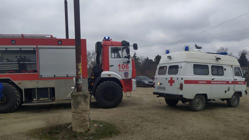 Сотрудники ПЧ 106 ГКУ РК «Пожарная охрана Республики Крым» провели пожарно-тактическое занятие совместно с работниками скорой медицинской помощи