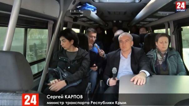 На автобусе по городу: Глава Крыма проехал по крымской столице с инспекцией