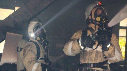 Крымские огнеборцы ликвидировали пожар в г. Керчь