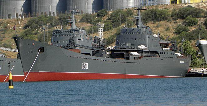 Десантные корабли Черноморского флота отработали навыки ведения боя в открытом море