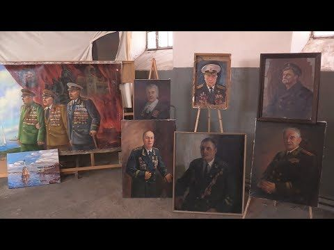 Военнослужащий Черноморского флота пишет масштабное полотно к 75-летию Победы (СЮЖЕТ)