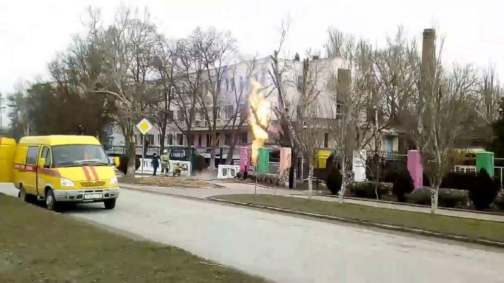 В Евпатории загорелся газопровод