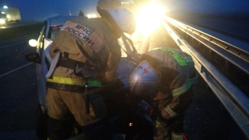 Утреннее ДТП на трассе «Таврида»: пострадала женщина-водитель