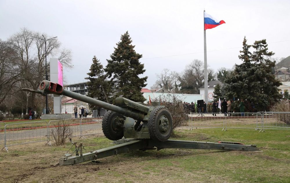 В Керчи «Выстрелом памяти» почтили участников Великой Отечественной войны