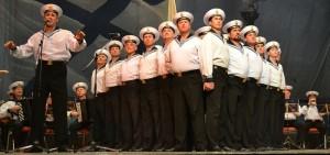 Военнослужащих авиабазы Хмеймим с праздником поздравил ансамбль Черноморского флота
