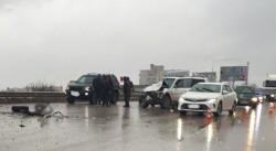 Несколько машин столкнулись на объездной Симферополя: очевидцы сообщают о погибшем, , ВИДЕО