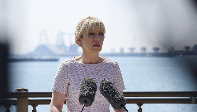 """Захарова оценила намерение Киева не идти на """"военный возврат"""" Крыма"""
