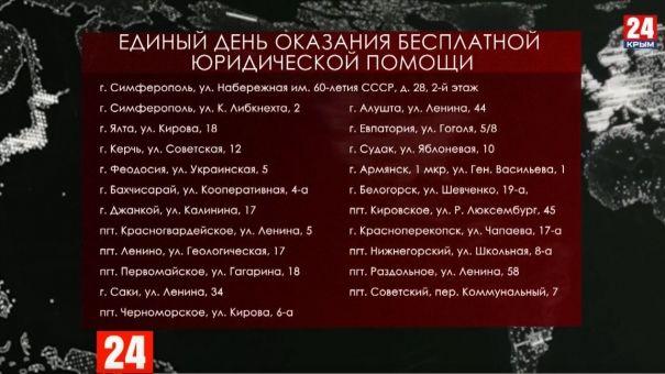 28 февраля в Крыму пройдёт Единый день бесплатной юридической помощи